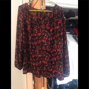 Thakoon Red & black blouse. Gorgeous.
